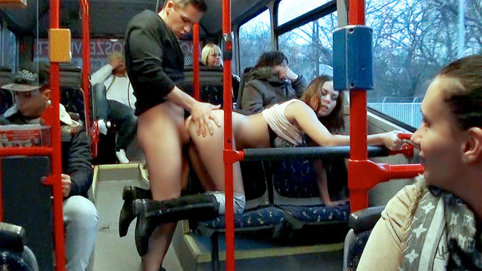 fucked on public bus