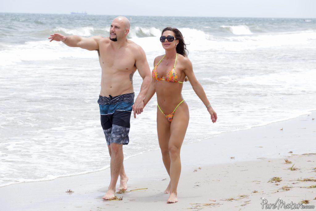Pure Mature:: Nina Dolci - Strangers On A Beach
